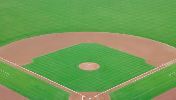 Empty baseball field