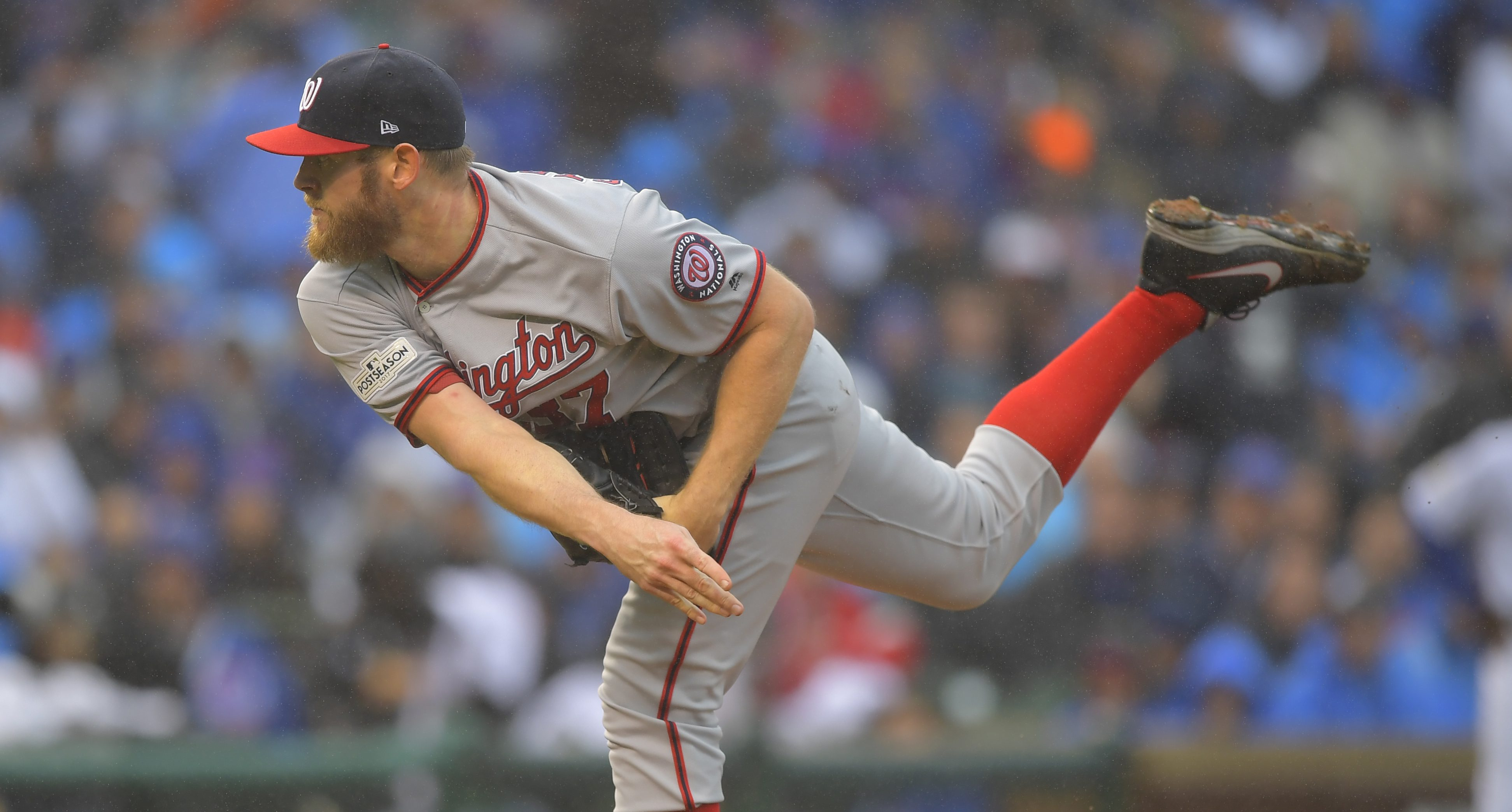 The Washington Nationals play the Chicago Cubs in game 4