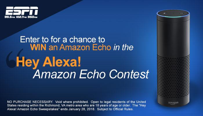 Amazon Echo Giveaway RICHMOND Q1 2018