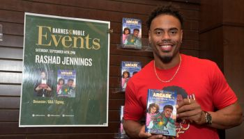 """Rashad Jennings Celebrates New Book """"Arcade And The Golden Travel Guide"""""""
