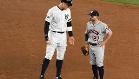 New York Yankees Aaron Judge and Houston Astros Jose Altuve in ALCS game in 2019