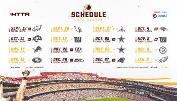 Redskins 2020 Schedule
