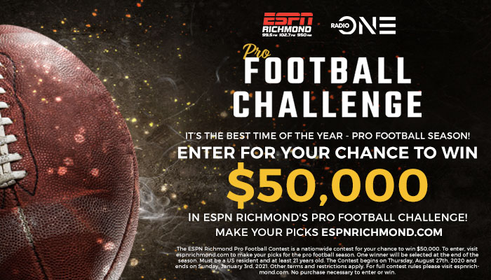 Pro Football Challenge_RD Richmond WXGI_September 2020